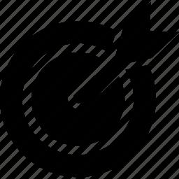 aim, arrow, dart, dartboard, goal, target icon