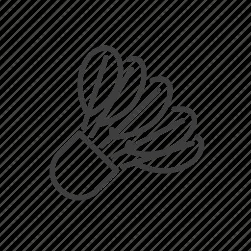activity, badminton, equipment, shuttlecock, sport icon