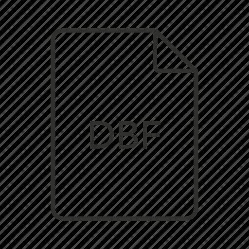.dbf, dbase, dbase file, dbf document, dbf file, dbf file icon, dbf icon icon - Download on Iconfinder