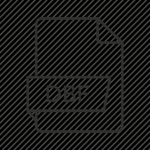 .dbf, dbase, dbase file, dbf document, dbf file, dbf file icon, dbf icon icon