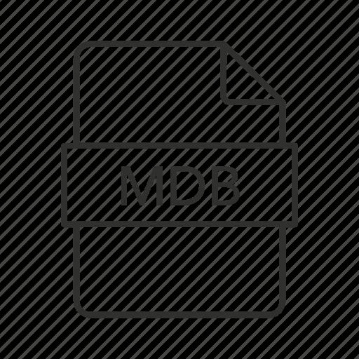 .mdb, database file, mdb document, mdb file, mdb file icon, mdb icon, microsoft access icon - Download on Iconfinder