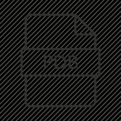 .pdb, pdb document, pdb file, pdb file icon, pdb icon, program database, program database file icon