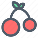 cherry, food, fruit, healthy, sweet icon