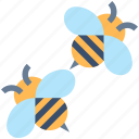 bee, bees, bug, fly, honey, insect icon