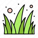 flowers, garden, grass icon