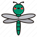 dragonfly, insect, bug, fly
