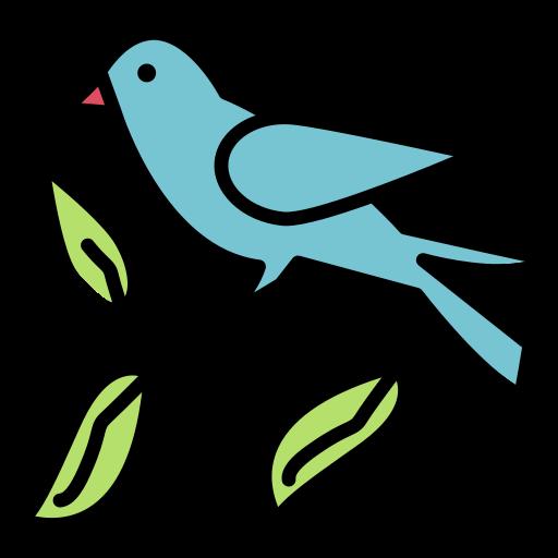 Fly, pet, bird, sparrow icon