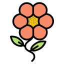 blossom, decoration, flower, garden, plant icon