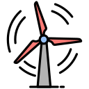 engine, mill, turbine, wind, windmill icon