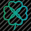 botanical, clover, good, leaf, luck icon