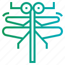 animal, dragonfly, insect, nature icon