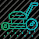 gardening, lawn, machine, mower, yard icon