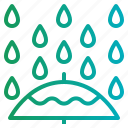 nature, plant, rain, weather icon