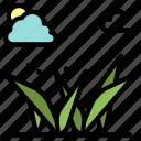 grass, grasses, green, spring icon