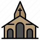 building, christmas, church, spring icon