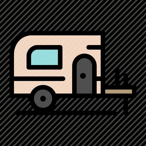 camp, car, spring icon