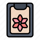clip, clipboard, flower, spring icon