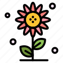 floral, flower, nature, spring, sub icon