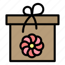 box, flower, gift, spring icon