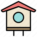 bird, house, spring icon