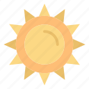 brightness, light, spring, sun icon