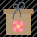 box, flower, gift, spring