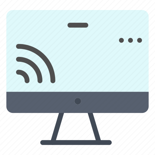 monnitor, screen, wifi icon