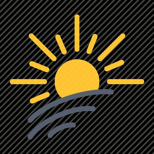 brightness, light, spring, sun icon