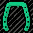 horseshoe, luck, lucky, spring icon