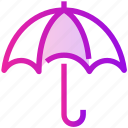 rain, spring, umbrella, weather icon