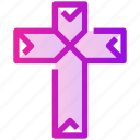 christianity, cross, easter, spring icon