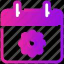 calendar, date, easter, flower, spring icon