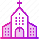 building, catholic, christmas, church, spring icon