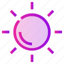 brightness, spring, sun, weather icon
