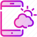application, mobile, spring, weather icon