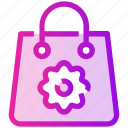 bag, flower, shopping, spring icon