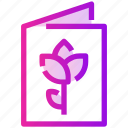 document, flower, menu, spring icon