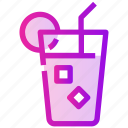 drink, ice, juice, spring icon
