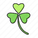 clover, nature, plant, spring icon