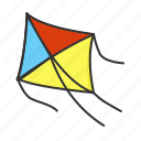 kite, spring, toy, toys icon