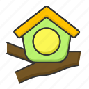 bird, forest, home, house, nest icon