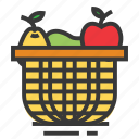 basket, bucket, easter, fruit, season, spring icon