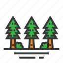 easter, forest, pines, season, spring, trees icon