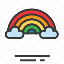 easter, rainbow, season, spring, view icon