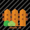 easter, farming, fence, season, spring icon