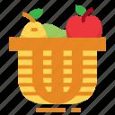 basket, bucket, easter, farming, fruit, season, spring icon