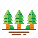easter, farming, forest, pines, season, spring, trees icon