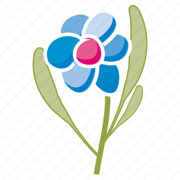 bloom, daisy, ecology, flower, garden, leaves, spring icon