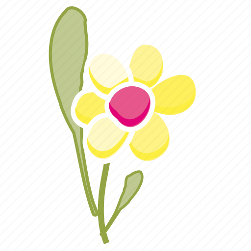 daisy, environment, flower, garden, leaves, nature, spring icon