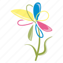 bloom, flower, garden, leaves, petals, spring, summer icon